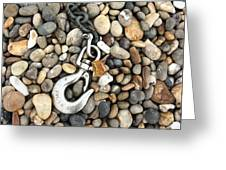 Hook, Chain And Pebbles Greeting Card