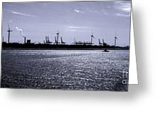 Hook Of Holland Shipping Canal Greeting Card