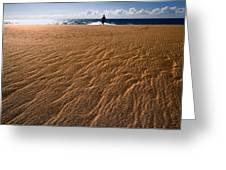 Ho'okahi - A Stroll Along A Beach Greeting Card