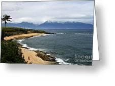 Hookipa Beach Maui North Shore Hawaii Greeting Card