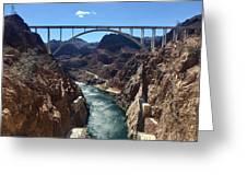 Hoover Dam Bridge Greeting Card