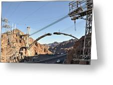Hoover Dam Bypass Highway Under Construction Greeting Card