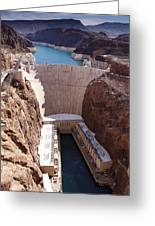 Hoover Dam II Greeting Card by Ricky Barnard