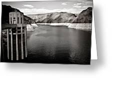 Hoover Dam Intake Towers #2 Greeting Card