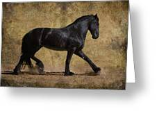 Hooves Of Thunder Greeting Card by Jean Hildebrant