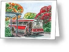 Hop On A Bus Greeting Card