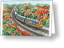 Hop On A Train Greeting Card
