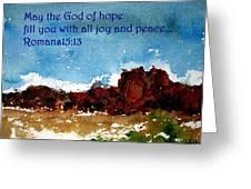 Hope Joy And Peace Greeting Card