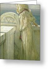 Hopeful Greeting Card by Sir Lawrence Alma-Tadema