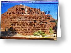 Hopi House And Dedication Plaque Greeting Card