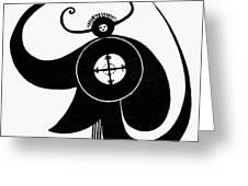 Hopi Sky God Greeting Card by Granger