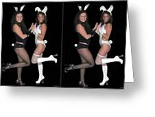 Hoppy Easter - Gently Cross Your Eyes And Focus On The Middle Image Greeting Card