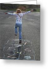 Hopscotch Queen Greeting Card