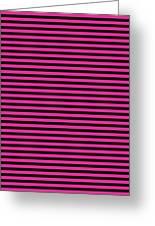 Horizontal Black Inside Stripes 30-p0169 Greeting Card