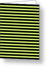 Horizontal Black Outside Stripes 18-p0169 Greeting Card