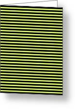 Horizontal Black Outside Stripes 30-p0169 Greeting Card