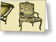 Horizontal Poster Of Chairs In Sepia Greeting Card by Adendorff Design