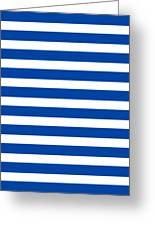 Horizontal White Inside Stripes 09-p0169 Greeting Card