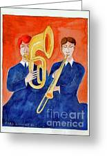 Horn Duo Greeting Card