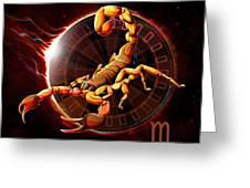 Horoscope Signs-scorpio Greeting Card