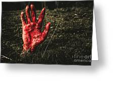 Horror Resurrection Greeting Card