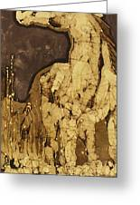 Horse Above Stones Greeting Card