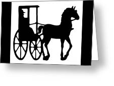 Horse And Buggy Vector Greeting Card