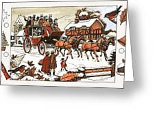 Horse And Carriage In The Snow Greeting Card