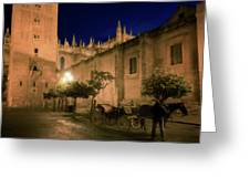 Horse And Carriage Seville Spain Greeting Card