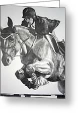 Horse And Jockey Greeting Card