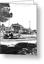 Horse And Parliament Greeting Card