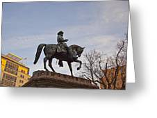 Horse And Rider Monument Greeting Card