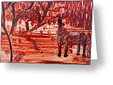 Horse And Tree Greeting Card