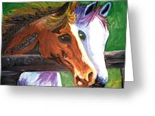 Horse Bff Greeting Card