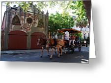 Horse Carriage At Kings Street Greeting Card