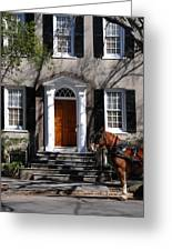 Horse Carriage In Charleston Greeting Card