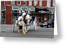 Horse Carriage In Nashville Greeting Card