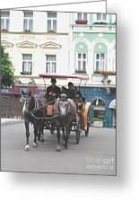 Horse Carriage Greeting Card