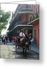 Horse Carriage Ride Greeting Card