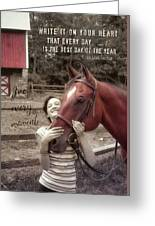 Horse Crazy Quote Greeting Card