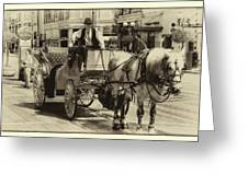 Horse Drawn Carriage Greeting Card