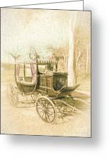 Horse Drawn Funeral Cart  Greeting Card