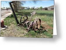 Horse Drawn Sickle Mower Greeting Card