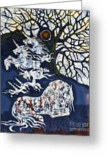 Horse Dreaming Below Trees Greeting Card by Carol  Law Conklin