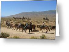 Horse Drive From June Lake To Bishop California Greeting Card