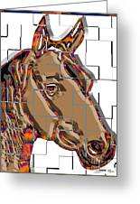 Horse Faces Of Life 4 Greeting Card