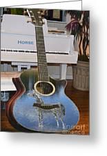 Horse Guitar Greeting Card
