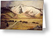 Horse Head Mountain Greeting Card
