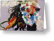 Puzzle Horse Head  Greeting Card by Rosario Piazza