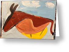 Horse In Contemplation Greeting Card